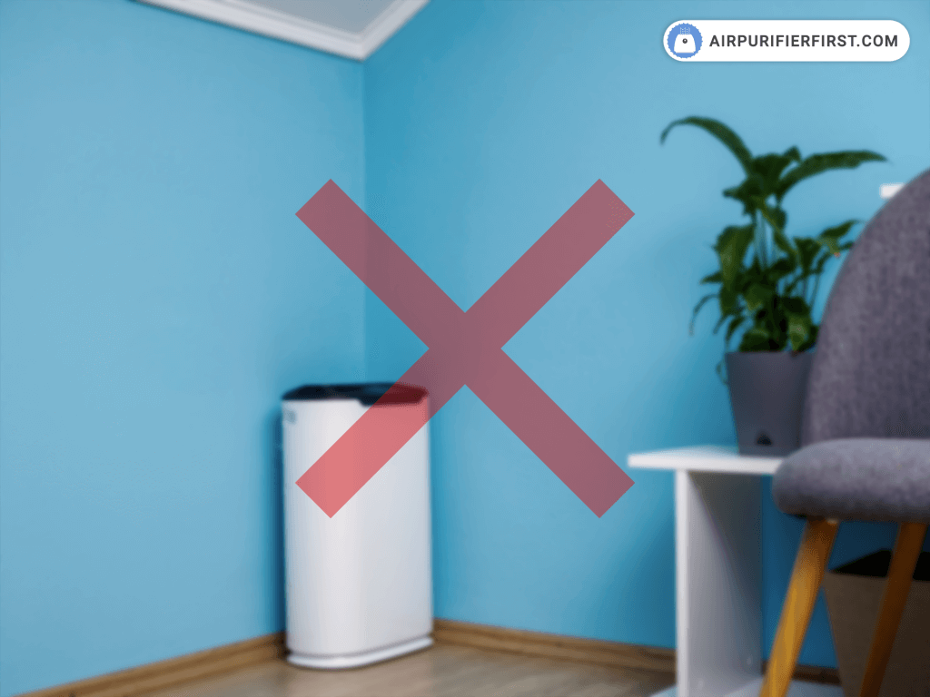 Don't Place an Air Purifier in a Corner or Tight Spot!