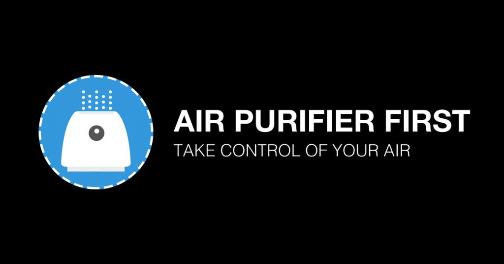 air purifier first logo light base