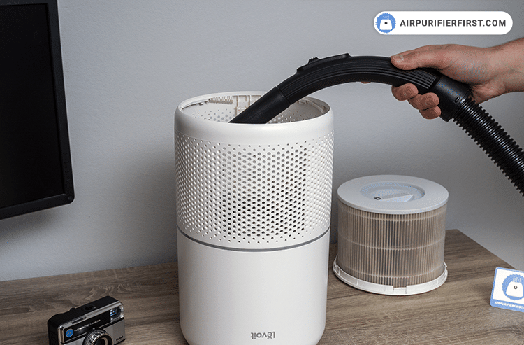 Vacuuming and cleaning inside the Levoit Core 300