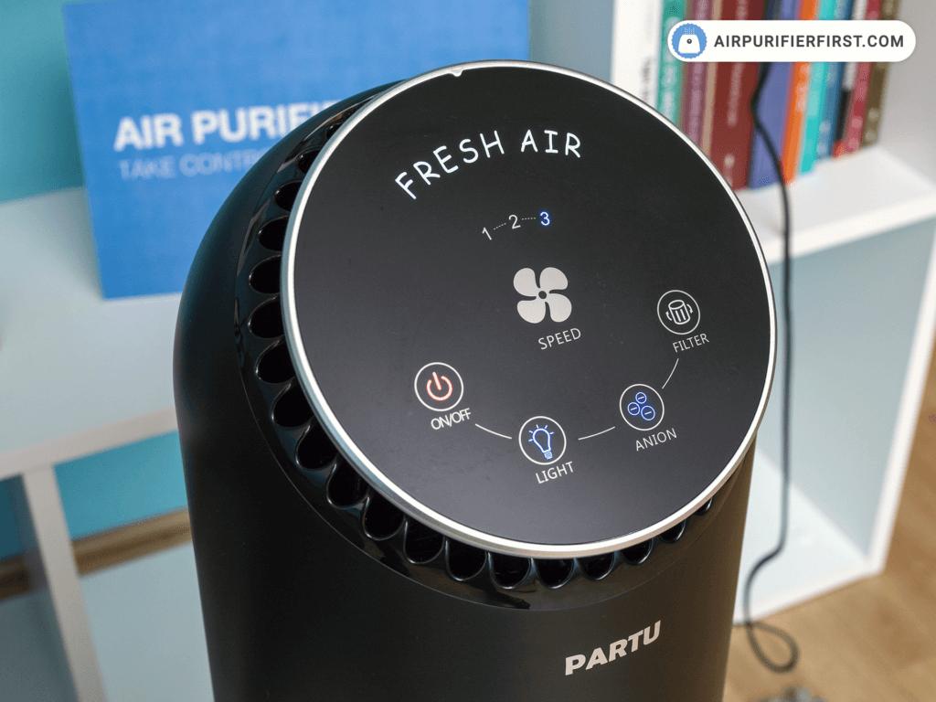 PARTU BS-08 Air Purifier Touch Buttons