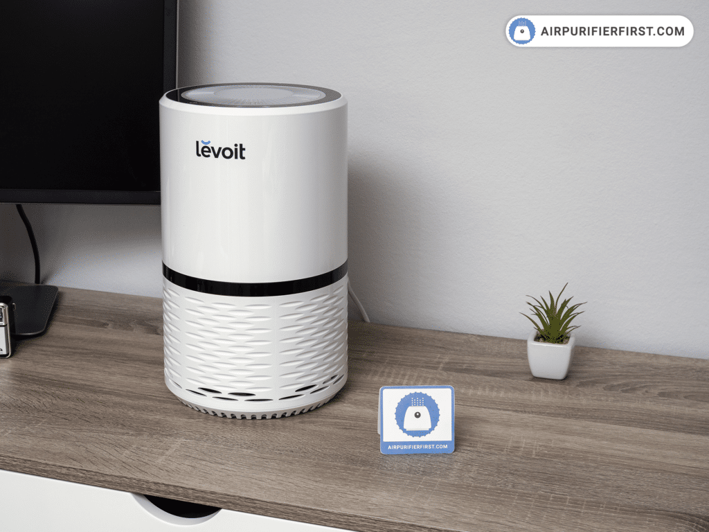Levoit LV-H132 - Air Purifer Placed on Desktop