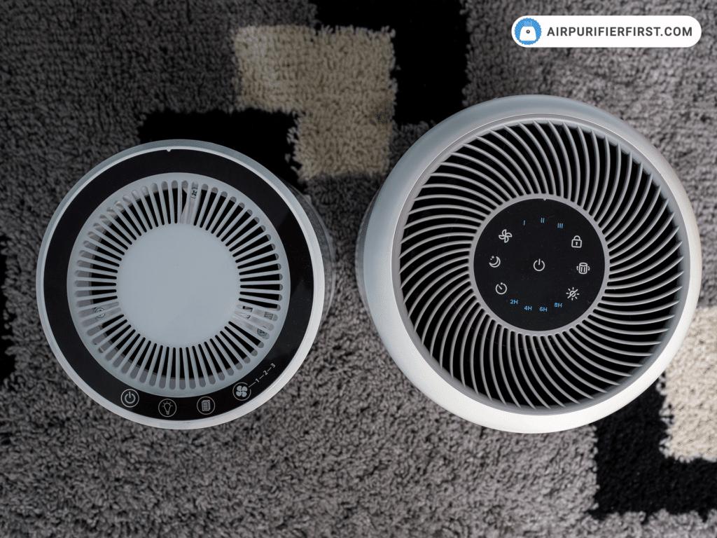 Levoit LV-H132 vs. Levoit Core 300 - Control Panels Comparison.