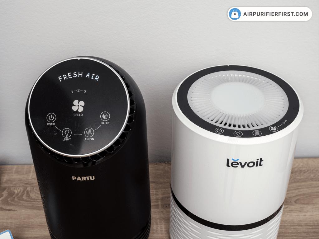 Levoit LV-H132 vs. PARTU BS-08 - Control Panels Comparison