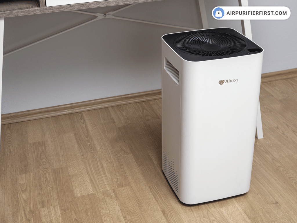 Airdog X3 Air Purifier - In front of Desk