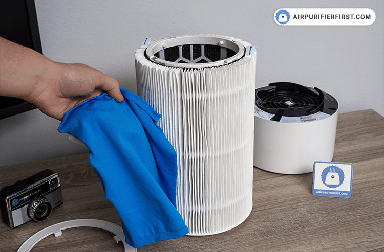 Changing Blue Pure 411 Filter - Remove the fabric filter