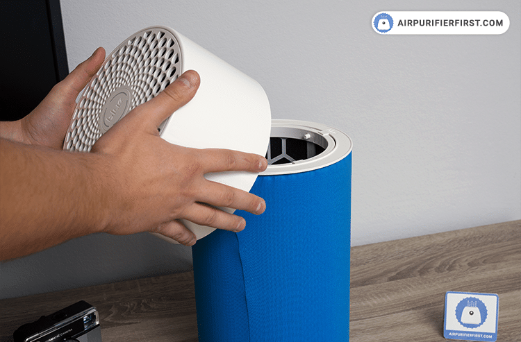 Changing Blue Pure 411 Filter - Prepare the air purifier for work