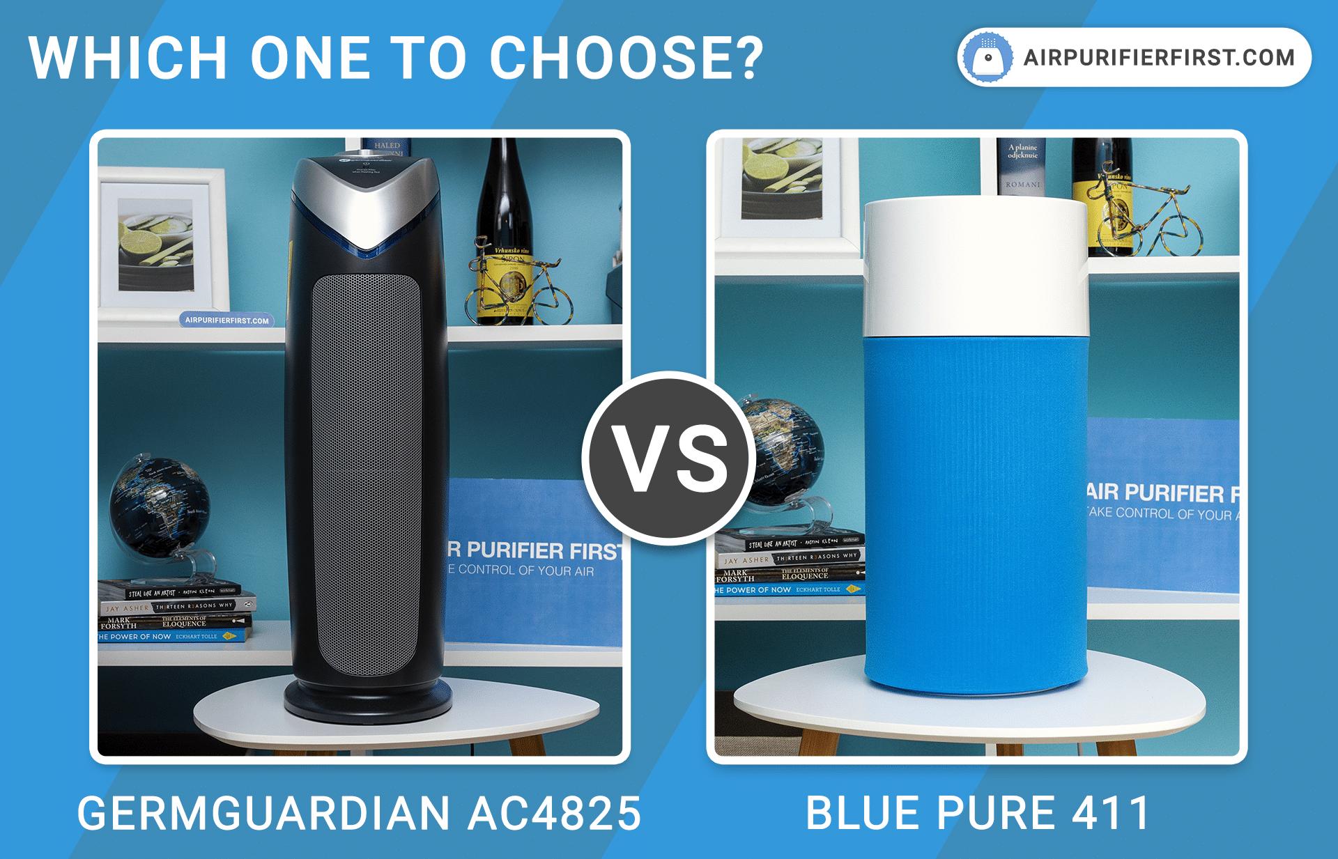 GermGuardian AC4825 Vs Blueair Blue Pure 411 - Comparison