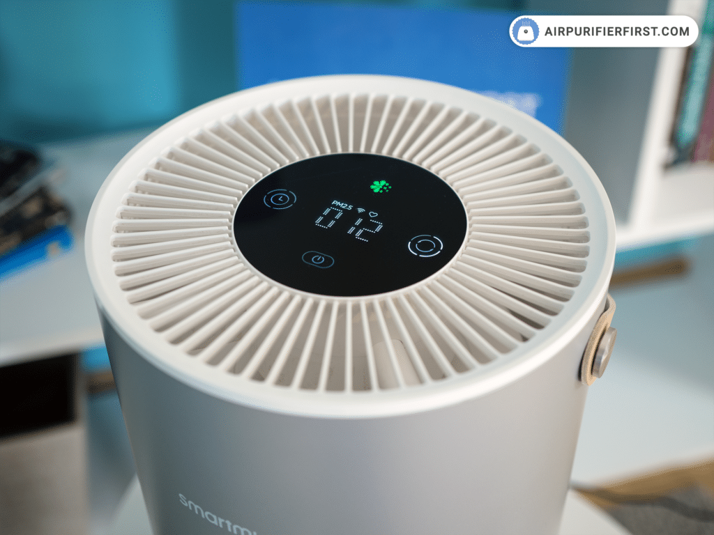 Smartmi P1 Air Purifier - LED Display and Control Panel