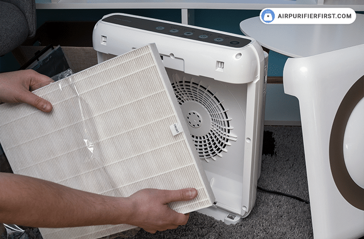 Prepare new filters, unpack and place them inside the air purifier.