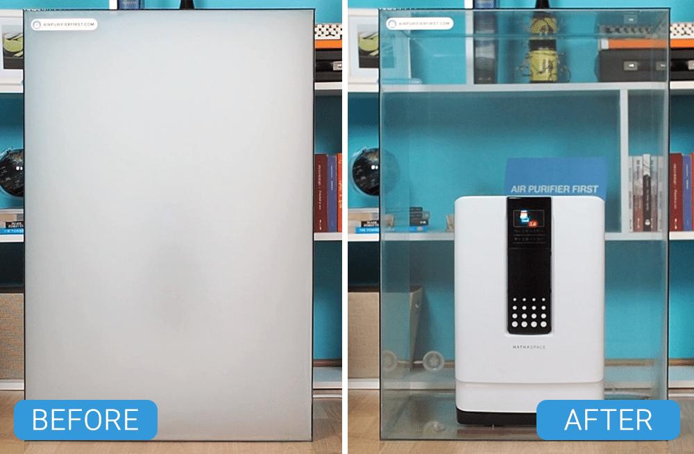 Hathaspace HSP001 Air Purifier - Smoke box Comparison
