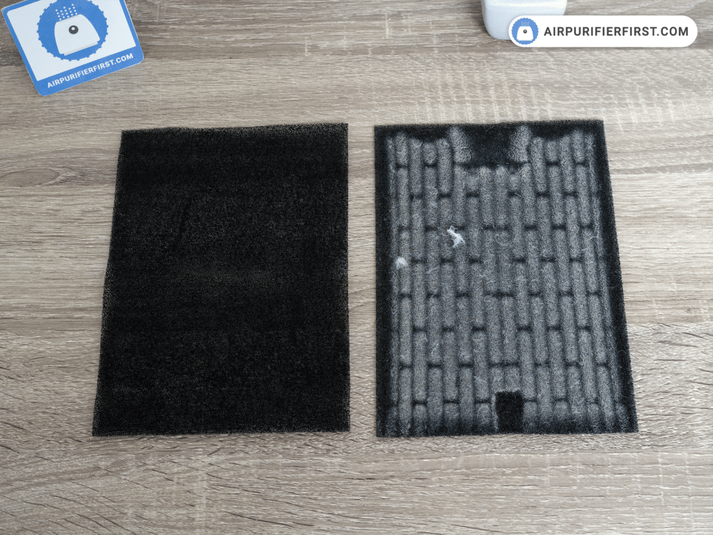 The Carbon Pre-filter - Before and After