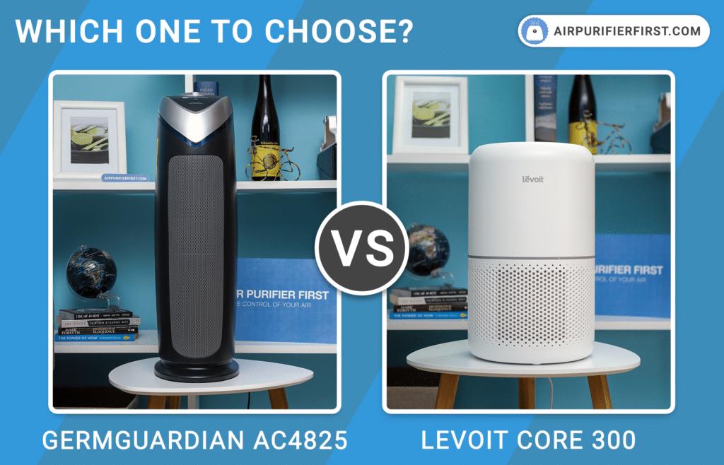 GermGuardian AC4825 Vs Levoit Core 300 - Air Purifiers Comparison