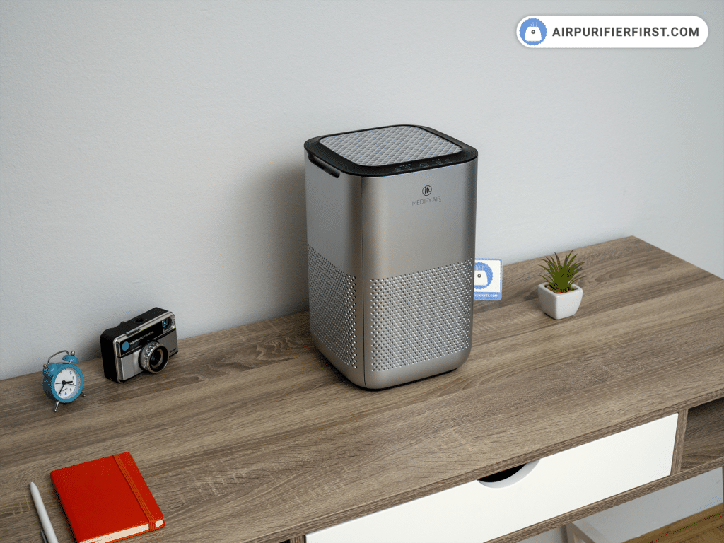 Medify Air MA-15 Air Purifier - Positioned on the Desk