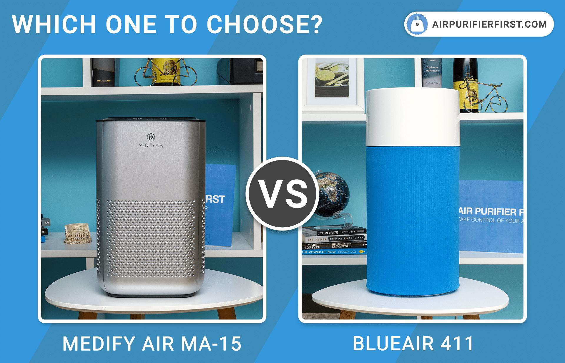 Medify Air MA-15 Vs Blueair 411 - Comparison