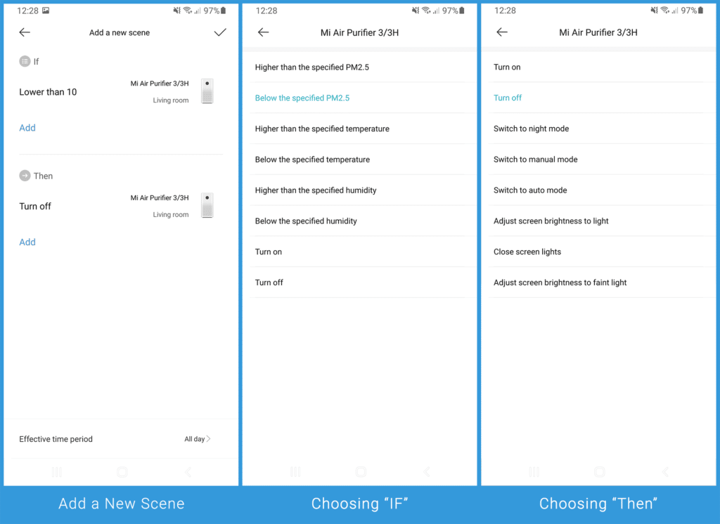 Xiaomi 3H - Adding a New Scene for Automation