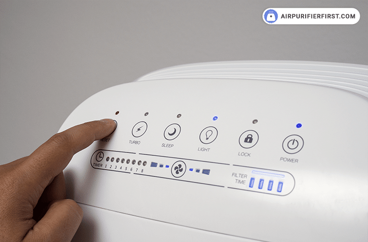 The last step is to reset the filter reset indicator by holding your finger on the reset button 3 seconds.
