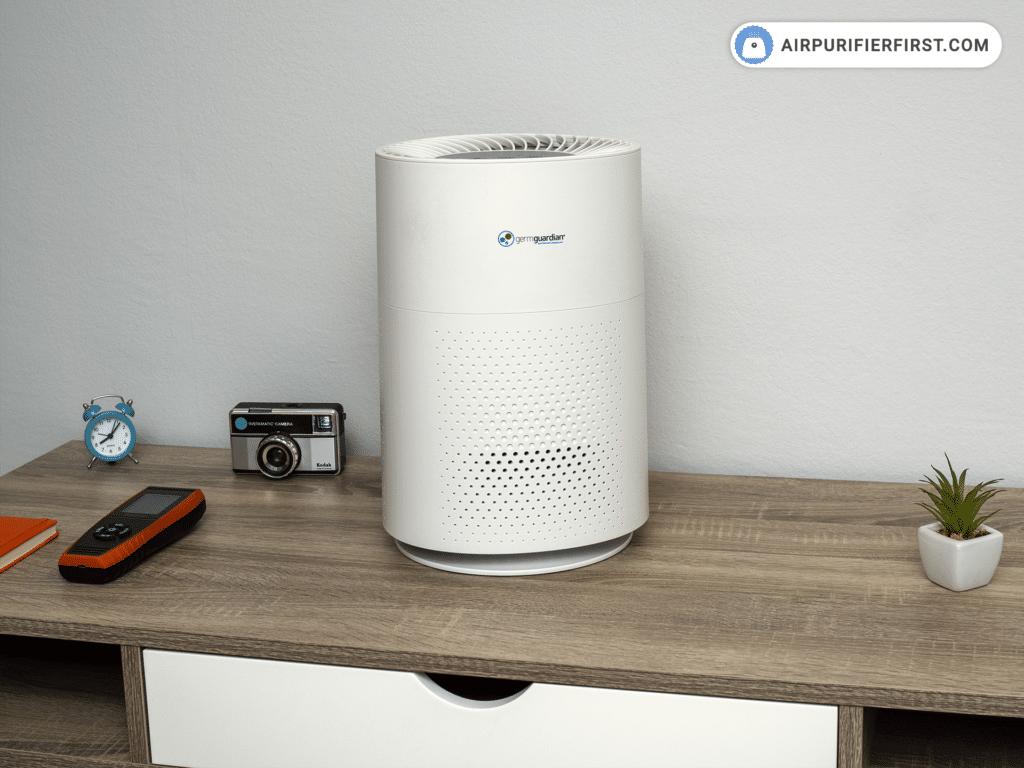 GermGuardian AC4200W Air Purifier On The Desktop