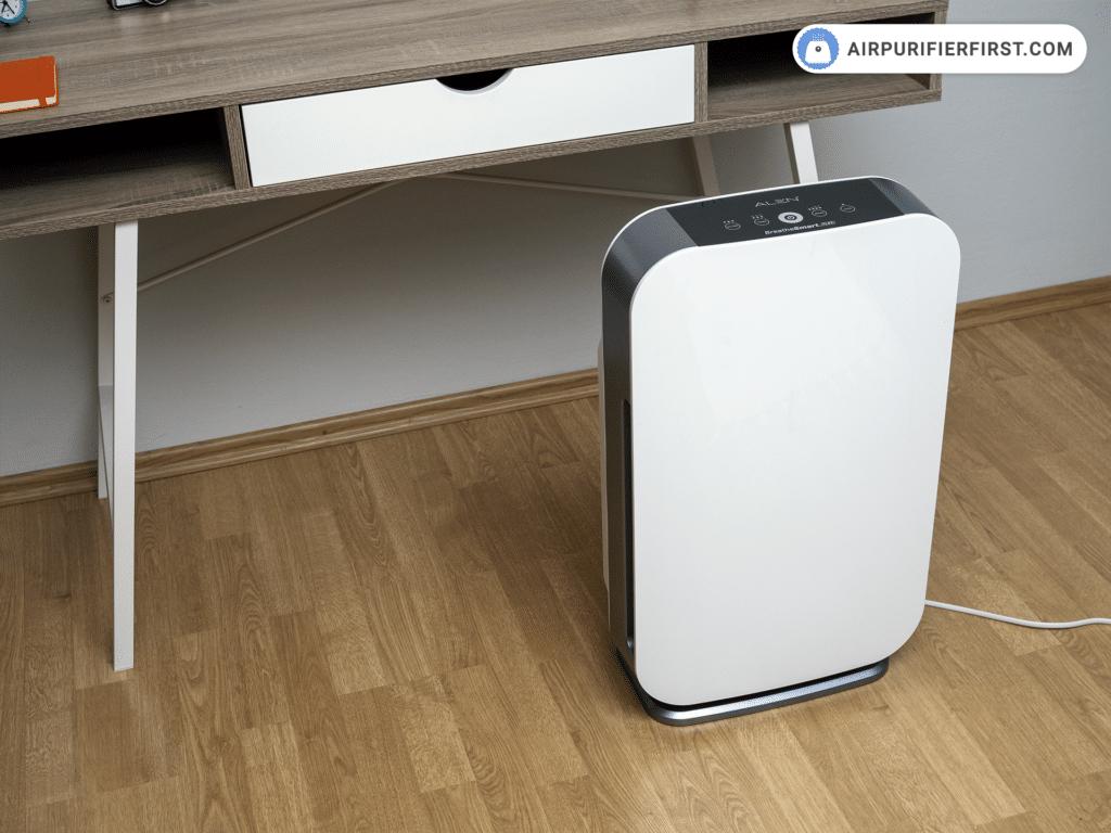 Alen BreatheSmart Flex Air Purifier - In front of the desk